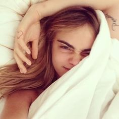 Cara Delevingne. | This Is What Celebrities Actually Look Like Without Makeup