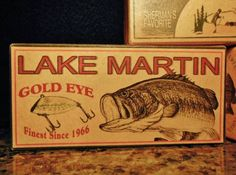 3 Lake Martin Alabama Bass Fishing Lure Boxes Cabin by 4YourLake