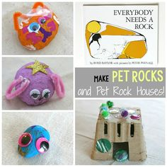 Making pet rocks and pet rock houses is a fun activity that combines creativity and the outdoors with a classic children's book!