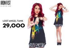 아이언피스트 LOST ANGEL TANK / 29,000원 http://www.ironfist.co.kr/shop/goods/goods_view_ladies.php?goodsno=450   #ironfist #아이언피스트 #여자캐주얼 #티셔츠 #민소매 #탱크티