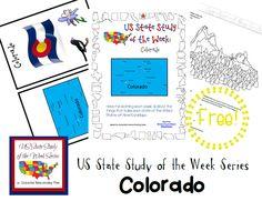 US State Study of the Week Weekly Series FREE Colorado Pack - Enchanted Homeschooling Mom #statestudy #freeprintable #homeschool