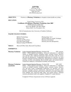 pharmacy technician objective resume samples - Sample Resume Pharmacy Technician