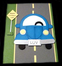 2012-06-17 - SUO Father's Day Punch Art Car by CrysCraft - Cards and Paper Crafts at Splitcoaststampers