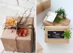 21 ideas para envolver regalos en papel kraft