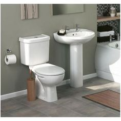 Pacific Toilet and Basin Pack - White from Homebase.co.uk