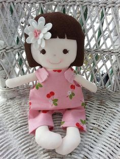 My friend Sagea handmade rag doll by DandelionWishesMimi on Etsy, $20.00