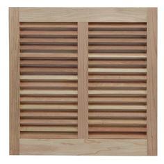 "Shutters By Design 58"" W Redwood Bermuda / Bahama Shutter Size:"