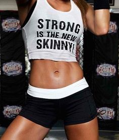 Strong is the new skinny. Tips for losing stubborn belly fat. motivation fitness excercise