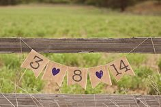 Save The Date Burlap Wedding Banner Photo Prop by TheGlitteredBarn, $19.00