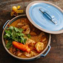 Moqueca para Ana Bueno, com badejo e frutos do mar