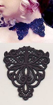 Dark Adornments - Choker (Lace) - Thread List | Urban Threads: Unique and Awesome Embroidery Designs