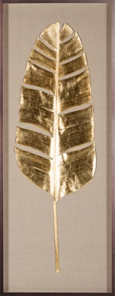 Banana Leaves, Gold Leaf | Natural Curiosities