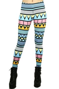 Stand out this spring with our colorful pastel summer tribe leggings. Leggings Store, Cheap Leggings, Sports Leggings, Women's Leggings, Tribal Print Leggings, Floral Leggings, Printed Leggings, Colorful Leggings, Gothic Leggings