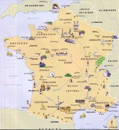 Map of France French Teacher, Teaching French, France Map, France Travel, Francia Paris, French Alphabet, Map Pictures, Amiens, French Classroom
