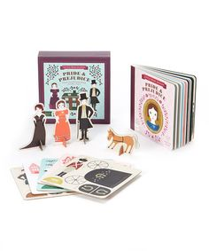 Do i dare introduce her to Mr. Darcy? :: Pride & Prejudice Board Book Play Set by BabyLit