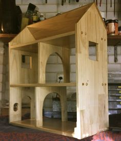 Getting back into woodwork: Timber Doll's House Wooden Dollhouse, Diy Dollhouse, Dollhouse Furniture, Dollhouse Bookcase, Cat Furniture, Dollhouse Miniatures, Woodworking Joints, Woodworking Bench, Woodworking Projects