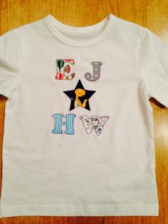 Personalised appliqué t-shirt for a friend's toddler