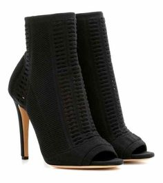 Vires knitted peep-toe ankle boots | Gianvito Rossi