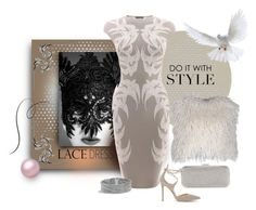 """Lovely in Lace"" by michelletheaflack ❤ liked on Polyvore featuring Badgley Mischka, Brunello Cucinelli, Alexander McQueen, Gianvito Rossi, David Yurman, lacedress and polyvorecontest"