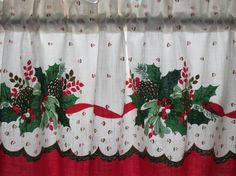 Vintage Tablecloth Christmas Valance