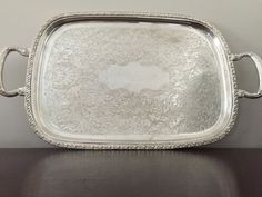 Silver (Plated) Serving Tray by TheFarmFindsShop on Etsy