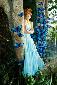 Sensual Fairy tale (since Photo Madame Butterfly, Butterfly Fairy, Butterfly Kisses, Blue Butterfly, Butterfly Wings, Fantasy World, Fantasy Art, Butterfly Images, Butterfly Quotes