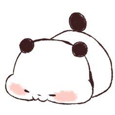 Chibi Panda Cartoon Love Cute Red
