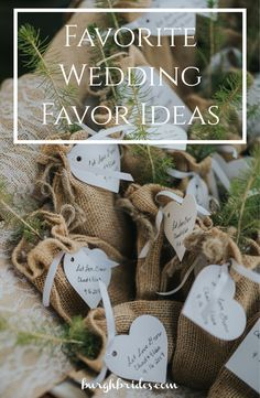 """Wedding Gifts For Guests Favorite Wedding Favor Ideas: Unique ways to thank your guests - Say """"thank you"""" to your wedding guests with one of these unique and fun wedding favor ideas from Burgh Brides! Plant Wedding Favors, Coffee Wedding Favors, Wedding Reception Favors, Inexpensive Wedding Favors, Edible Wedding Favors, Wedding Gifts For Guests, Wedding Favors For Guests, Unique Wedding Favors, Wedding Ideas"""