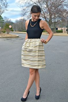 J Crew Gold Stripe Dress // My Life Well Loved // Heather Brown at My Life Well Loved // Spring Dressed // Wedding Outfits // Mom Fashion // Mom Style