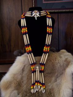 Beaded Bandolier Style Necklace and Choker by PrimitiveDesignsTX, $160.00