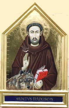 Trecento Italian style St Francis of Assisi by peter murphy