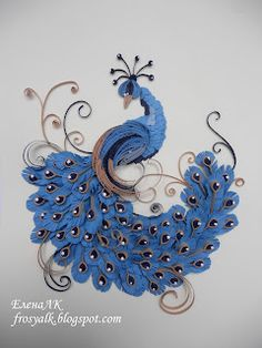 Quilled blue peacock from Хомячок Challenge
