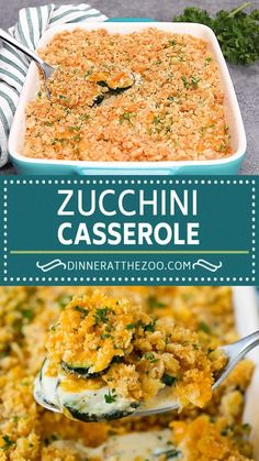 This zucchini casserole is sauteed squash tossed in a creamy sauce with plenty of cheese, all topped off with cracker crumbs and baked to perfection. An easy and simple make ahead side dish!