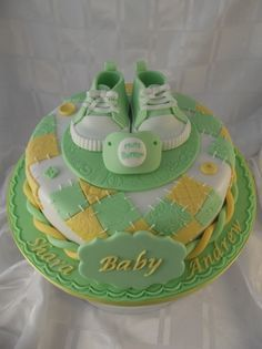 So cute~baby shower cake.
