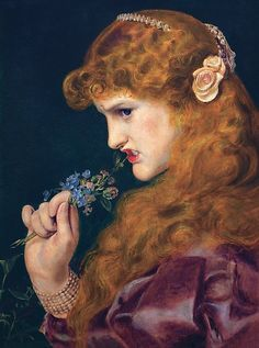 """""""Love's Shadow"""" by Frederick Sandys. Although Frederick Sandys was not a member of the Pre-Raphaelite Brotherhood, he is among… Renaissance Kunst, Renaissance Paintings, Classic Paintings, Old Paintings, Arte Punch, Baroque Art, Baroque Painting, Historical Art, Classical Art"""