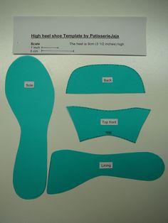 High heel shoe template