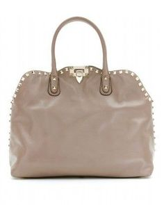 73b25c68d760 Whitney Port wearing Valentino Rockstud Dome Bag in Taupe.