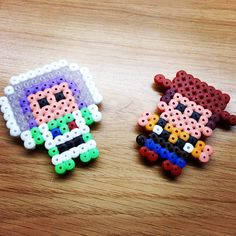 Buzz and Woody - Toy Story magnets hama beads by hamageekworld