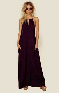 MIRO CINCH NECK MAXI DRESS