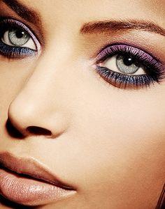 Lavender navy eyeshadow