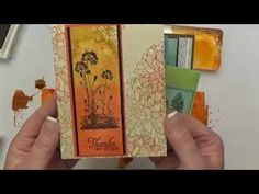 Watercolor Wash Background video tutorial using Stampin Up! clear blocks, ink pads, stampin spritzer and watercolor paper. Stamp over the background for beautiful cards. by Patty Bennett www.PattyStamps.com