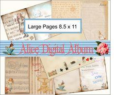 Digital Paper- Journal Kit Alice in Wonderland, Scrapbooking, Card Making Journals, Mixed Media,graphics,Clip Art