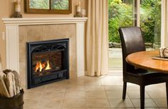 Horizon with Traditional Cast Iron Front and Ledgestone Liner Valor Fireplaces, Direct Vent Gas Fireplace, Traditional Fireplace, Fireplace Mantels, Hearth, Family Room, New Homes, Home Appliances, Wood