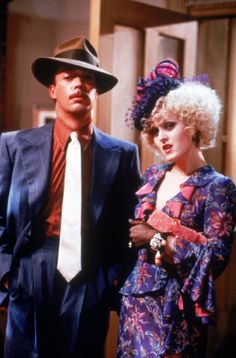 Still of Tim Curry and Bernadette Peters in Annie (1982) | Essential Film Stars, Tim Curry http://gay-themed-films.com/essential-film-stars-tim-curry/