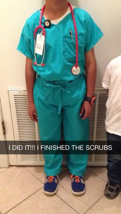 Anna plays nurse kids nurse costume sew delicious sewing career day diy costume for kids doctor costume solutioingenieria Gallery