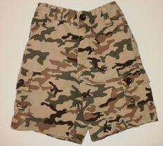 Baby Gap Camouflage Cargo Shorts Boys sz 3 6m FREE SHIPPING