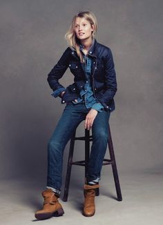 would totally wear this exact outfit  #denim #chambray #darkblue