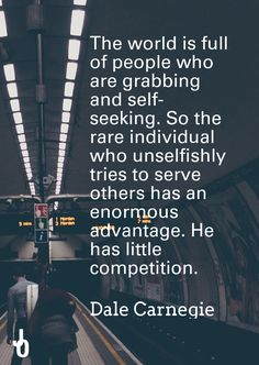 A brilliant #quote from the  #classic How to Win Friends and Influence People. Dale Carnegie consistently argued that the deepest urge in the human hierarchy of needs is the desire to be important. When we tirelessly serve others we place importance on them; we meet this fundamental need that is true for every person. #Influence always begins with honour.
