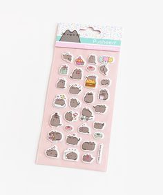 Tabby Cats Grey Pusheen Super Puffy Stickers - This sheet of super puffy stickers features Pusheen enjoying a variety of activities and sweets! Sticker sheet measures x and features 30 unique stickers. Stationary School, School Stationery, Kawaii Stationery, Stationery Set, Pusheen Stickers, Kawaii Stickers, Cute Stickers, Pusheen Shop, Pusheen Cute