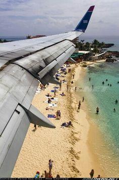Kerosene Beach ...landing at Juliana Airport, St. Maarten. http://www.kerosenebeach.com